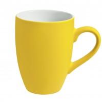 Кружка 320 мл, c покрытием софт-тач, желтая, фаянс