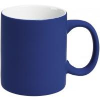 Кружка 340 мл, c покрытием софт-тач, синяя, фаянс