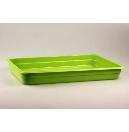 Гастроемкость 1/1  h=65, полипропилен, зеленая