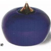 Лампа масляная кобальт в наборе с двумя картриджами, керамика