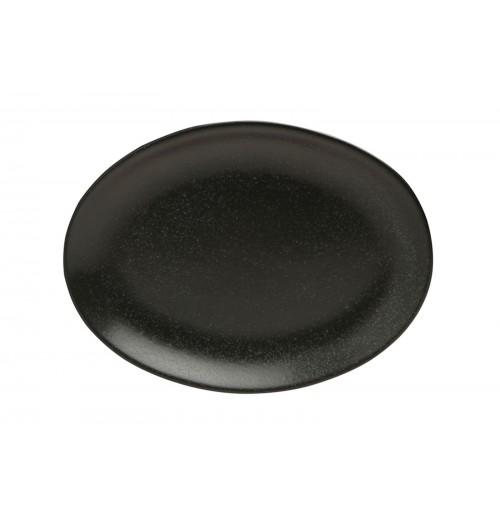 Блюдо овальное 18 см Seasons черное, фарфор