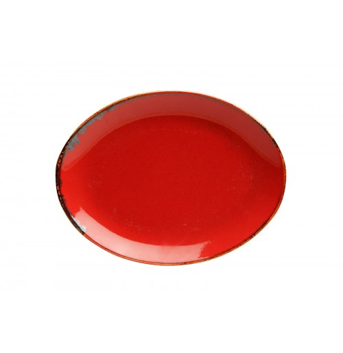 Блюдо овальное 18 см Seasons красное, фарфор