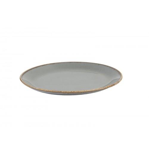 Блюдо овальное 18 см Seasons темно-серое, фарфор