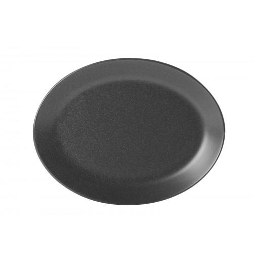 Блюдо овальное 36 см Seasons черное, фарфор