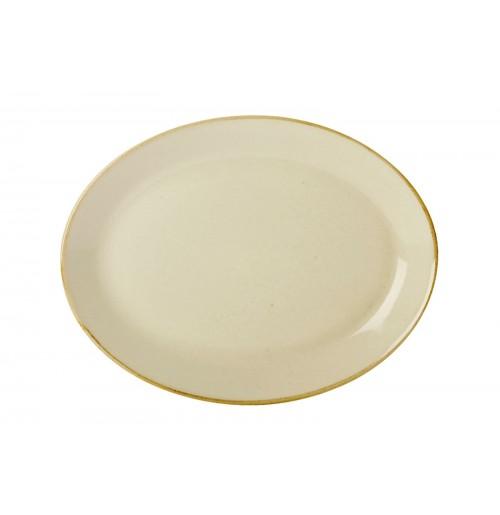 Блюдо овальное 36 см Seasons желтое, фарфор
