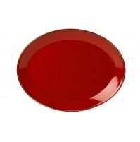 Блюдо овальное 36 см Seasons красное, фарфор