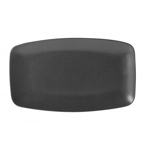 Блюдо прямоугольное 31х18 см Seasons черное, фарфор