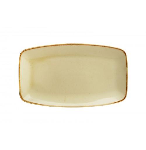 Блюдо прямоугольное 31х18 см Seasons желтое, фарфор