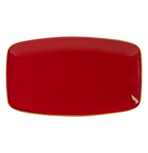 Блюдо прямоугольное 31х18 см Seasons красное, фарфор
