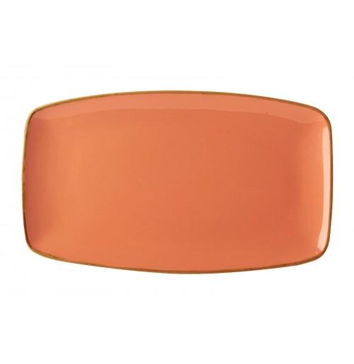 Блюдо прямоугольное 31х18 см Seasons оранжевое, фарфор