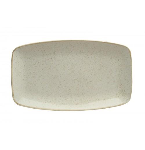 Блюдо прямоугольное 31х18 см Seasons бежевое, фарфор