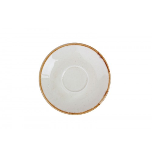 Блюдце 12 см Seasons желтое (к кофейной чашке 80 мл), фарфор