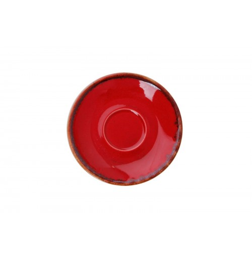 Блюдце 12 см Seasons красное (к кофейной чашке 80 мл), фарфор