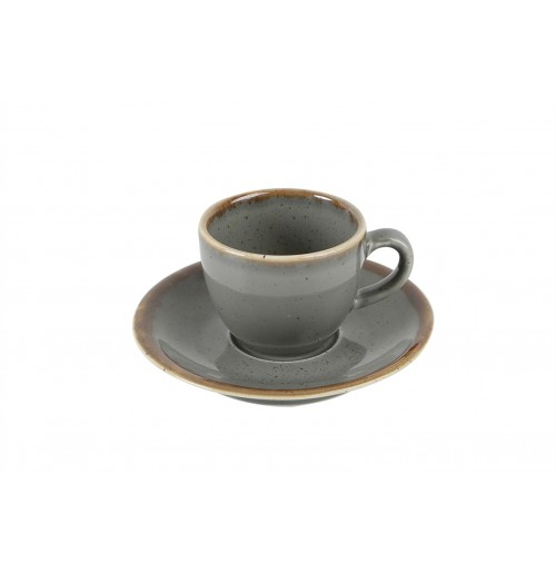 Блюдце 12 см Seasons темно-серое (к кофейной чашке 80 мл), фарфор