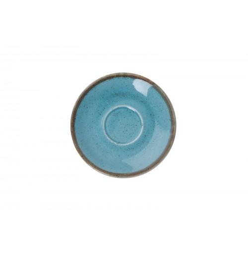 Блюдце 12 см Seasons бирюзовое (к кофейной чашке 80 мл), фарфор