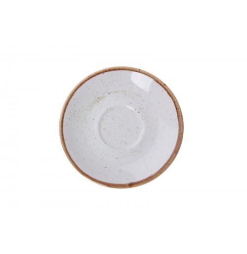 Блюдце 12 см Seasons бежевое (к кофейной чашке 80 мл), фарфор