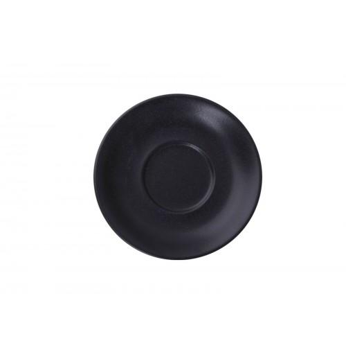 Блюдце 16 см Seasons черное (к чайной чашке), фарфор