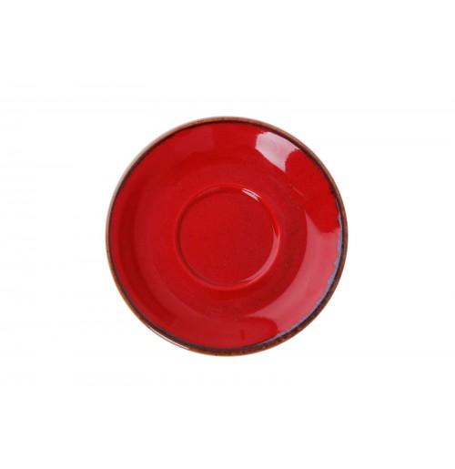 Блюдце 16 см Seasons красное (к чайной чашке), фарфор