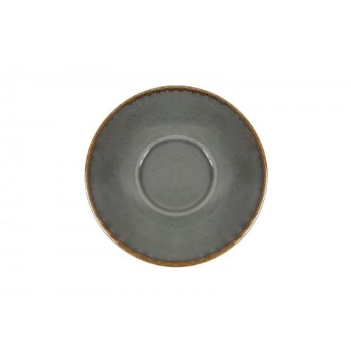 Блюдце 16 см Seasons темно-серое (к чайной чашке), фарфор