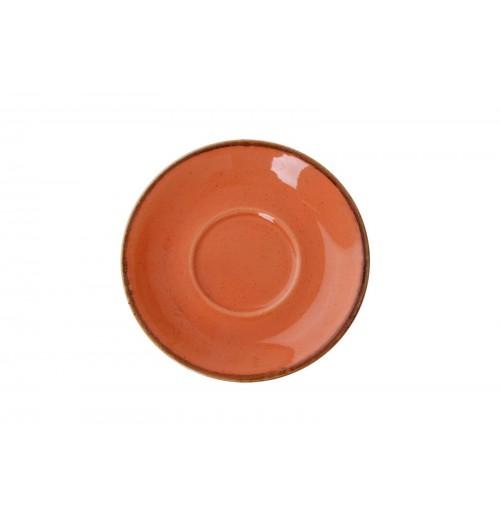 Блюдце 16 см Seasons оранжевое (к чайной чашке), фарфор