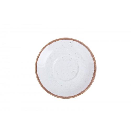 Блюдце 16 см Seasons бежевое (к чайной чашке), фарфор