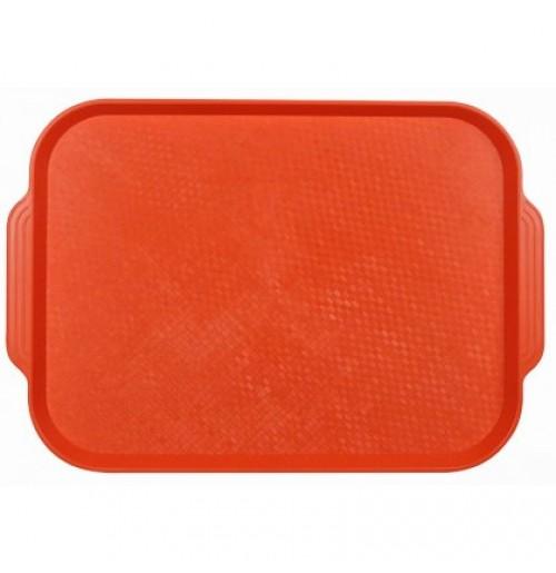 Поднос 45*35,5см. оранжевый, полистирол