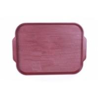 Поднос 45х35.5 см тёмно-красный, (вишневый), полистирол