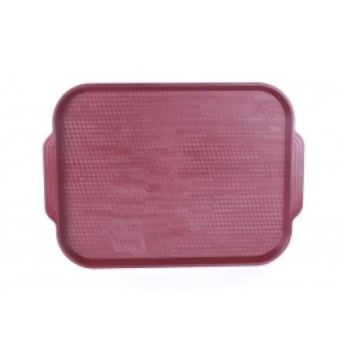 Поднос 45*35,5см., тёмно-красный, (вишневый), полистирол