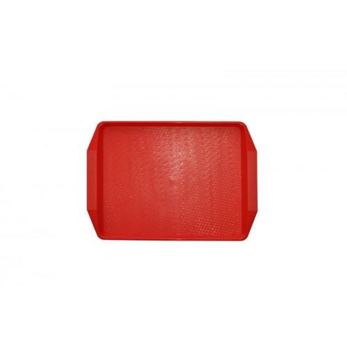 Поднос 42*30см красный, полипропилен