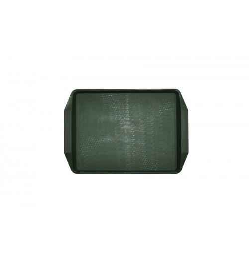 Поднос 42*30см темно-зеленый, полипропилен