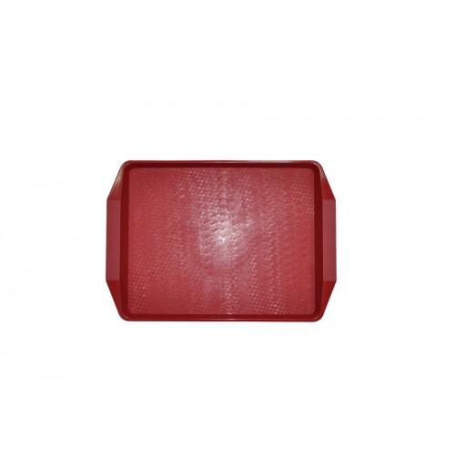 Поднос 42*30см темно-красный, полипропилен