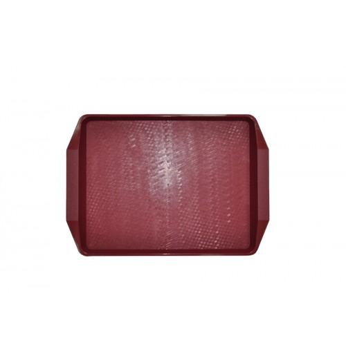 Поднос 42*30см, тёмно-красный, (вишневый), полипропилен