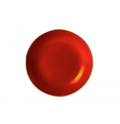 Cалатник/тарелка глубокая Seasons красный, фарфор, 30 см