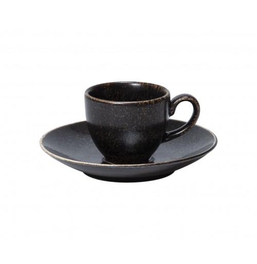 Набор Kaffe Rhea: чашка 200 мл и блюдце 16 см, шпатовый фарфор