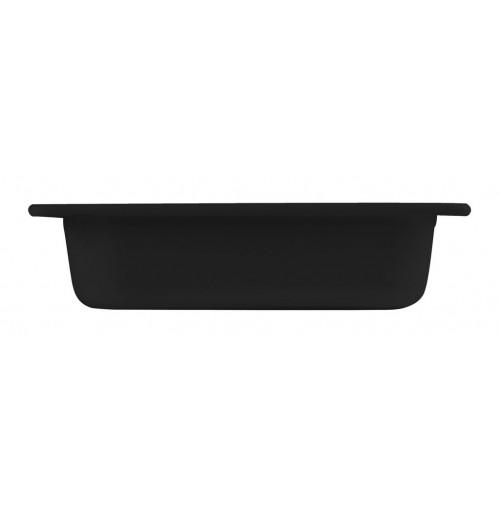 Гастроёмкость/блюдо 1/4-65 черная, меламин