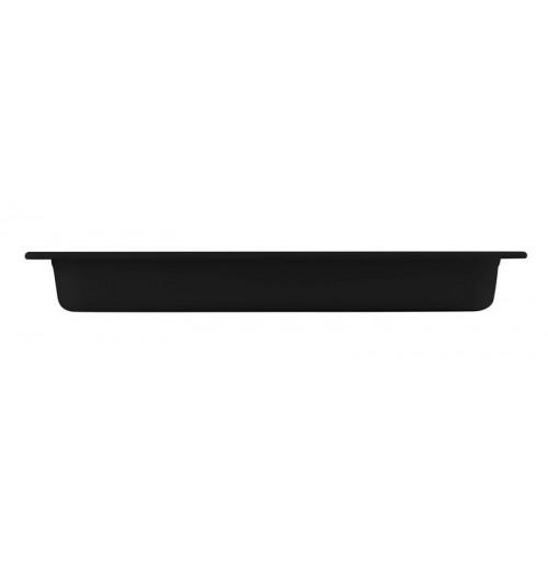 Гастроёмкость/блюдо 2/4-65 (ОСТАТОК 1 ШТ)  черная, меламин
