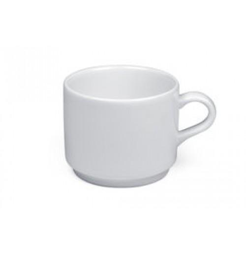 Чашка Espresso Delfi 90 мл штабелируемая (блюдце 20171) , шпатовый фарфор