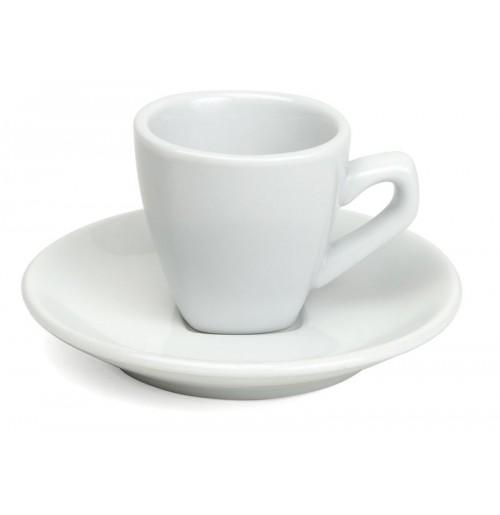 Набор Kaffe Verona: чашка 220 мл и блюдце 15 см, шпатовый фарфор