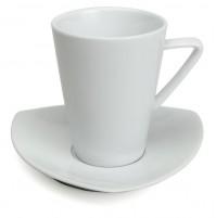 Набор Kaffe Aten: чашка  200 мл и блюдце 14 см, шпатовый фарфор