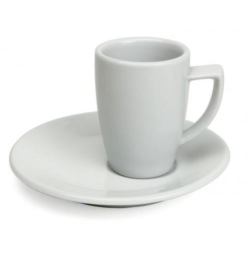 Набор Kaffe  Rimini: чашка 180 мл  и асимметричное блюдце 15 см, шпатовый фарфор