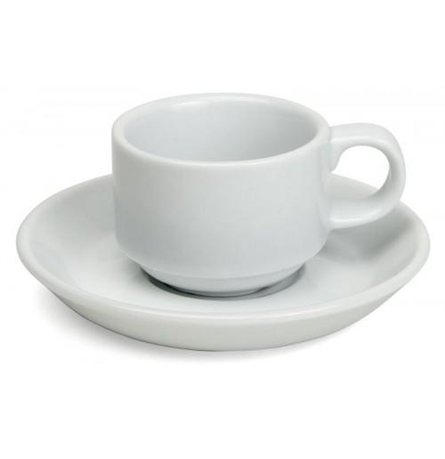 Набор Kaffe Paris: чашка штабелируемая  150 мл и блюдце 14 см, шпатовый фарфор