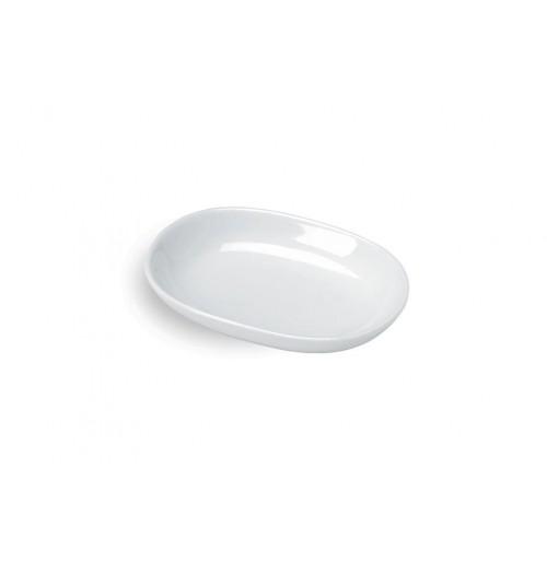 Блюдо 11х8 см, шпатовый фарфор