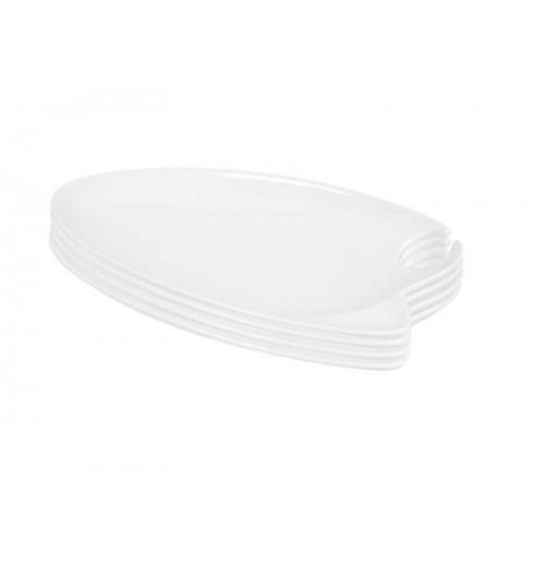 Набор тарелок фуршетных 4 шт, костяной фарфор