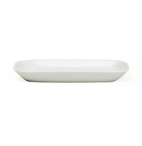 Блюдо-розетка прямоугольное 13.2х8.9х1.6 см, костяной фарфор