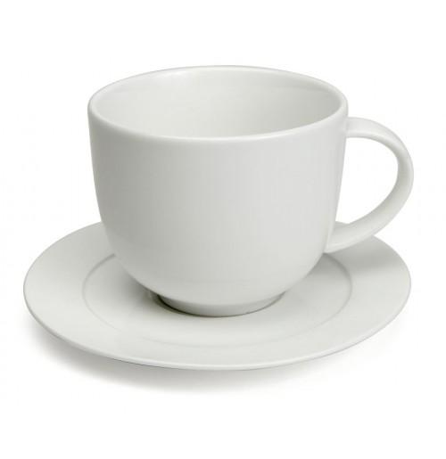 Набор Te Zeus: чашка 320 мл и блюдце 14.5 см, костяной фарфор