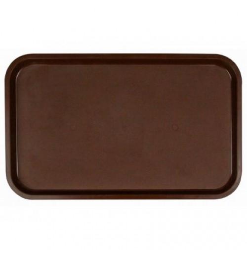 Поднос 53*33см темно-коричневый, полипропилен