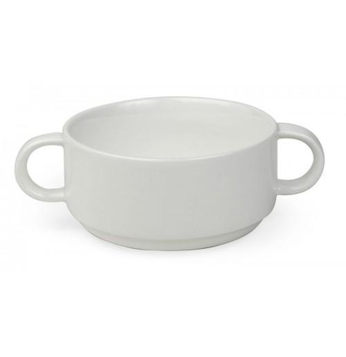 Бульонница/чаша суповая 300 мл (тарелка 28036) , костяной фарфор
