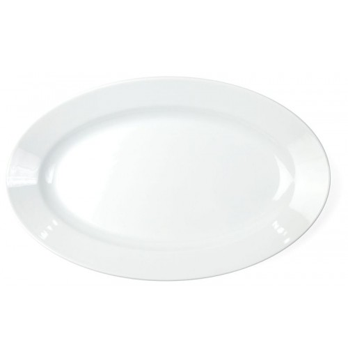 Блюдо 35х22 см, шпатовый фарфор