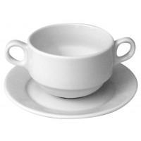 Чашка суповая с блюдцем 320 мл ( бульонница) , шпатовый фарфор