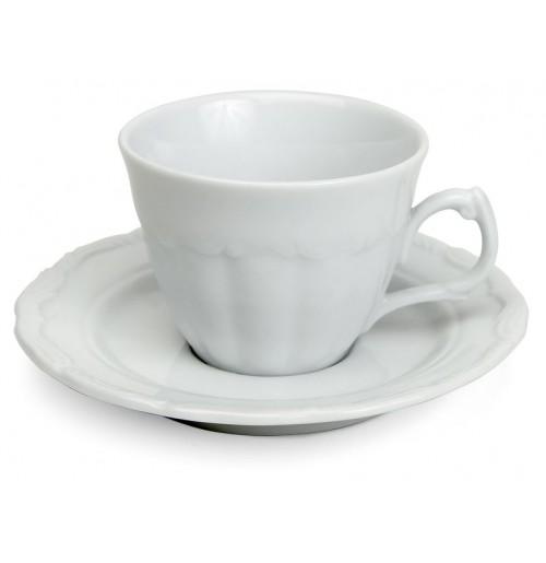 Набор Kaffe Maria Teresa: чашка 170 мл и блюдце 14 см, шпатовый фарфор